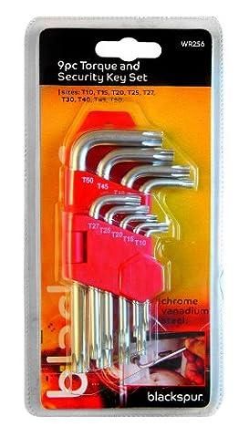 Blackspur BB-WR256 Torque and Security Key Set