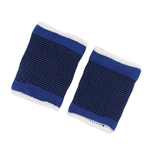 lleyball Handgelenk-Stützschutz-Armband Paar Schwarz Blau (Volleyball-armbänder)