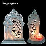 Stampo 3D per candeliere da sposo, sposo, matrimonio, fondente, cioccolato, gesso, candela da cucina