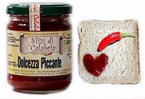 Dolcezza piccante - confettura peperoncino calabrese vaso 190gr marmellata piccante - prodotti tipici sfizi di calabria