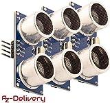 AZDelivery 3 x HC-SR04 Ultraschall Modul Entfernungsmesser Sensor für Raspberry Pi und Arduino mit gratis eBook!