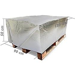 Cablematic - Funda cubierta para palet de tipo burbuja aire PE 130x90x50cm térmico
