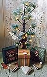 Weihnachtsbaum Baum Lichter 60cm Lichterbaum mit Schnee 24 Warmweiß LED Batteriebetrieben Tannenbaum Dekobaum Weihnachtsbeleuchtung für Garten Weinachten Party Wohnzimmer Haus Dekoration