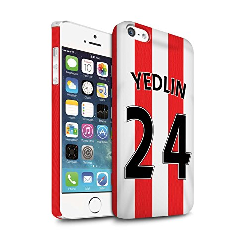 Offiziell Sunderland AFC Hülle / Matte Snap-On Case für Apple iPhone 5/5S / Yedlin Muster / SAFC Trikot Home 15/16 Kollektion Yedlin