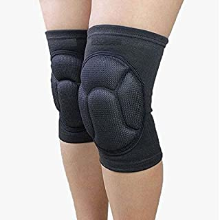 AIYoo Knee Pads (1Pair) Thick Sponge Collision Avoidance Knee Sleeves Kneeling Kneepad Brace Non-Slip Work Dancing Climbing Outdoor Sports Gym Riding Protector For Unisex Adult One Size (Black)