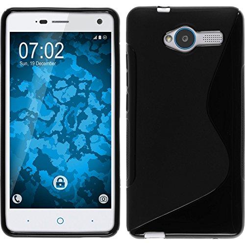 PhoneNatic Case für ZTE Blade L3 Hülle Silikon schwarz, S-Style + 2 Schutzfolien