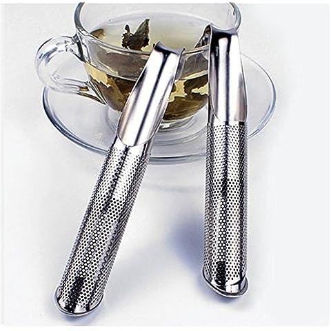 AbleGrow (TM) Moda metal Tabaco Tubo Forma Hoja de Té Colador Infusor de especias Filtro Difusor