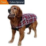 ThinkPet Giubbotto reversibile invernale, per cane, plaid