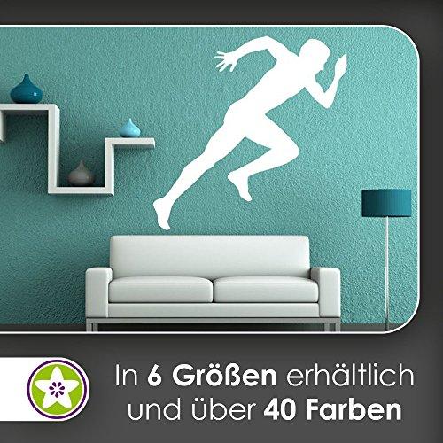 KIWISTAR Läufer Silhouette Wandtattoo in 6 Größen - Wandaufkleber Wall Sticker - Stoff Sprint