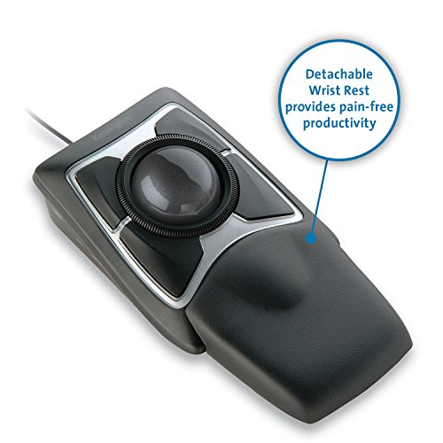 Kensington Expert Mouse Optical Wired USB Trackball for PC and Mac - Black