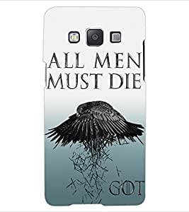ColourCraft Scary Quote with Image Design Back Case Cover for SAMSUNG GALAXY A5 A500F