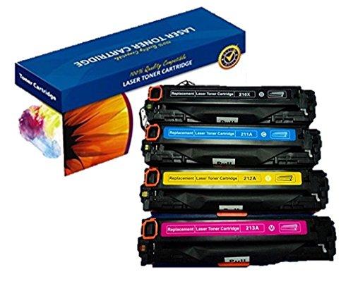 Nextpage 4-Pack cartuchos de tóner láser 131A CF210X CF211A CF212A CF213A tóner compatible (Negro Cian Magenta Amarillo) para HP LaserJet Pro 200 colour M251n M251nw M276n M276nw - tricolor y negro