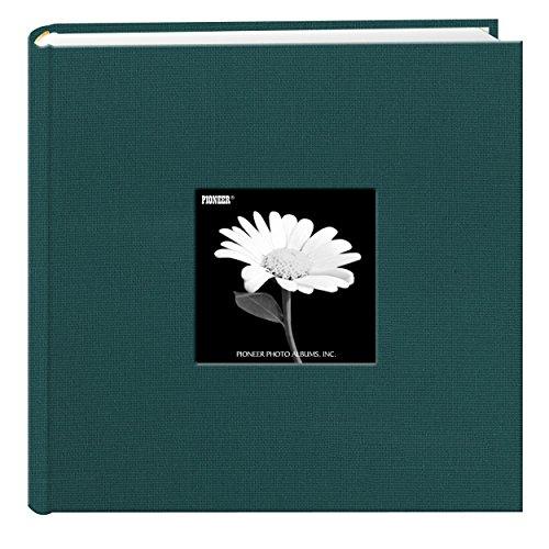 Pioneer Fotoalbum mit Fotofächern und Fotorahmen-Einband aus Stoff Majestic Teal