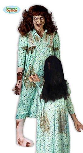 Kostüme Halloween Exorzist (Besessene im Nachthemd Exorzismus Kostüm für Damen Halloween blutig Gr. M/L,)