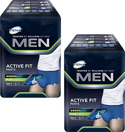 Tena Men Active Fit Pants Plus, Größe L, 2er Pack(2 x 2 Stück)