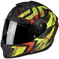 Scorpion Moto Casco Exo 1400Air Picta, Negro/Amarillo, Tamaño XS