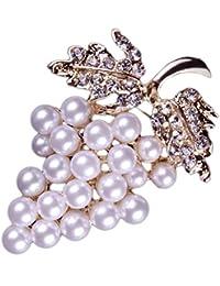 623829902db7 Nikgic 1pc Broche de perlas de cristal de moda Broche de diamantes de  aleación