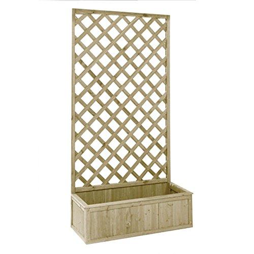 Evergreen traliccio con fioriera in legno 40x90x180cm arredo giardino eg51739