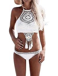Trajes de baño para mujer,RETUROM El más nuevo estilo de las mujeres de Bohemia hecha a mano hecha punto traje de baño de bikini traje de baño