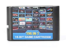 196 in 1 Multi Games Cards Cartridge 16 Bit for Sega Mega Drive MD for PAL and NTSC