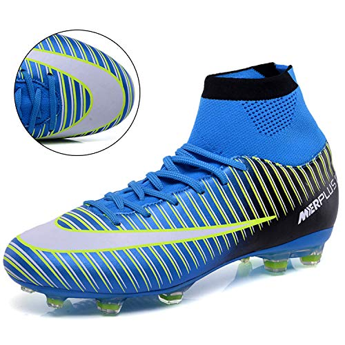 LSGEGO Men s Football Boots Adult High Top Soccer Shoes Professional Spike Training Shoes Outdoor Sneakers Teenagers Sports Boots