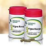 Lot de 3 VIGNE ROUGE - 60 gélules à base de plantes et d'actifs naturels - Veinotonique pour améliorer la circulation - Permet de...