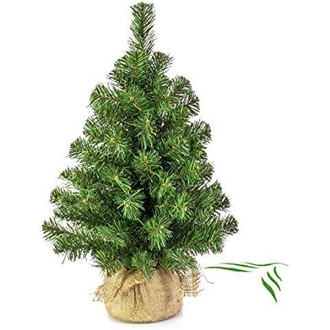 Mini albero di Natale VARSAVIA, verde, sacco di iuta, 60