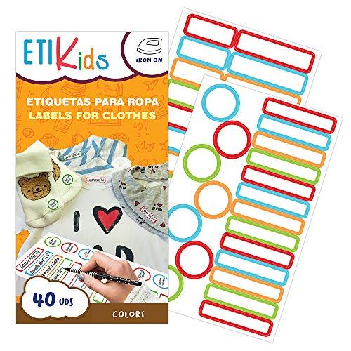 ETIKIDS 40 Etiquetas ropa personalizables guardería
