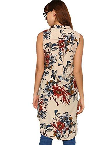 ABOF Women's Regular Fit Shirt (BOA17AWWWSH1001901L_Beige)