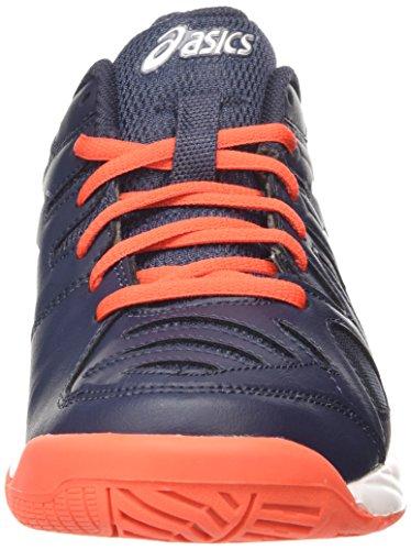 Asics Gel Game 5 Gs, Chaussures de Tennis Mixte Enfant Blanc (Sky Captain/White/Orange)