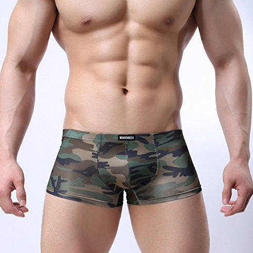 GS~LY confortevoli ed esclusive di intimo uomo intimo u stampa bassa convessa lombare slip traspirante , camouflage , m  Acquista 2 ottenere 1