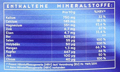 Mineralien und Spurenelemente | Komplettversorgung | Mit Ur-Essenz Shilajit | 100{6403dd5cd2c6809a200c0a8682fd2f04163ad2dd6ce63a14a966608529f79560} frei von Zusatz- und Hilfsstoffen | Maximal bioverfügbare Mischung an Mineralsalzen | 450g Pulver