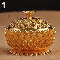 Brussels08 Vintage Lotus Shape Zinc-Copper Lega bruciatore di incenso del  Metallo Cenere Vassoio Ciotola 11833ebdf08