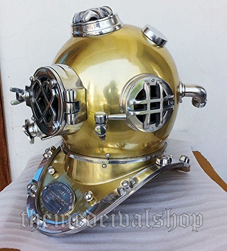 THE REX OF KINGS US Navy Mark V Vintage Old Diving Taucher Helm Scuba Deko Replica Meer