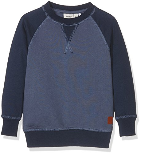Name It Nitvodvar Bru Swe Top Mz, Felpa Bambino, Multicolore (Vintage Indigo), 98