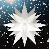 Unbekannt Stern A4 weiß, ca. 40cm, Plastik