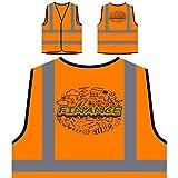 Éxito de inicio de negocios de finanzas Chaqueta de seguridad naranja personalizado de alta visibilidad e323vo