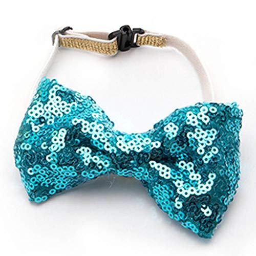 Umiusiyun Practical Pet Dog Birthday Capes Kostüm Hut mit Bownout Grateful(None Butterfly Lake Blue) (Blue Cape Kostüm)