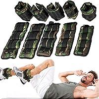 DOBO® Coppia Pesi Caviglie Polsi cavigliere Allenamento e Resistenza con Peso Totale da 0,5 a 6 kg - Colore Mimetico (2 kg Totali)