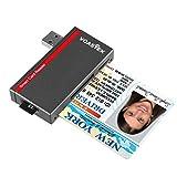 USB 3.0 Chipkartenleser, VOASTEK SIM Kartenleser & Personalausweis Lesegeraet | Elektronischer ID Kartenleser und CAC Smart Card Reader Personalausweis | SD/Micro SD/M2/MS/SIM Karte Adapter