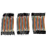 3 Stück 40x11cm Pin Breadboard Jumper Kabel Draht Set Stecker auf Stecker / Buchse auf Buchse / Buchse auf Stecker