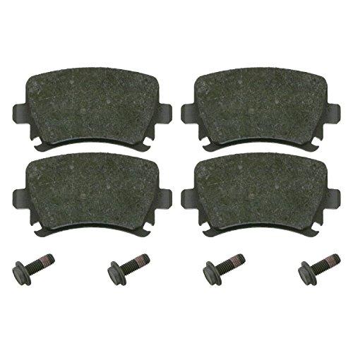 febi bilstein 16540 Bremsbelagsatz mit Schrauben (hinten, 4 Bremsbeläge), ohne Verschleißwarnkontakt