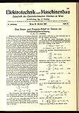 Das Sinus- und Tangens-Relief im Dienste der Fernleitungsberechnung, in: ELEKTRONIK UND MASCHINENBAU, Heft 44/1928 (46. Jg.).