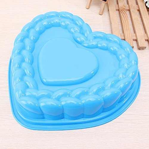 Bluelover Forma di grande cuore torta Pan silicone stampo vassoio
