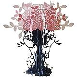 Hrph Pop Up Manuel Pliable 3D Carte de Voeux Joyeux Noël Vase à Roses Creux en Motif Carte Postale