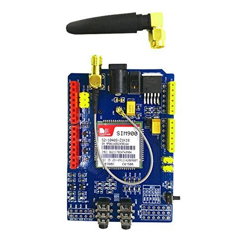 FidgetKute SIM900 GPRS/GSM Shield Entwicklungsboard Quad-Band-Modul kompatibel für Arduino Quad Shield