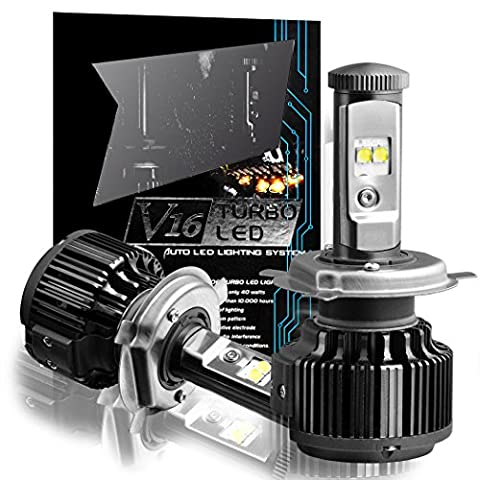 TECHMAX LED Headlight Bulbs All-in-One Conversion Kit - H4 (9003