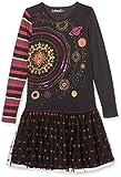 Desigual Mädchen Kleid Vest_Nairobi, Grau (Carbon 2017), 116 (Herstellergröße: 5/6)