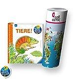 Ravensburger Wieso? Weshalb? Warum? Buch Tiere 4-7 Jahre | Tiere! + Kinder Tier-Weltkarte - Länder, Tiere, Kontinente