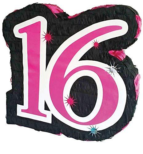 Das Kostümland Pinata - Geburtstags Dekoration - Sweet 16 - Tolles Geschenk für Kindergeburtstag, Hochzeit Oder Mottoparty